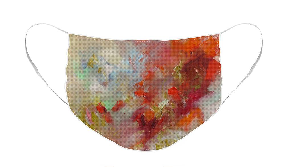 Art Face Mask featuring the painting Triumph by Linda Monfort