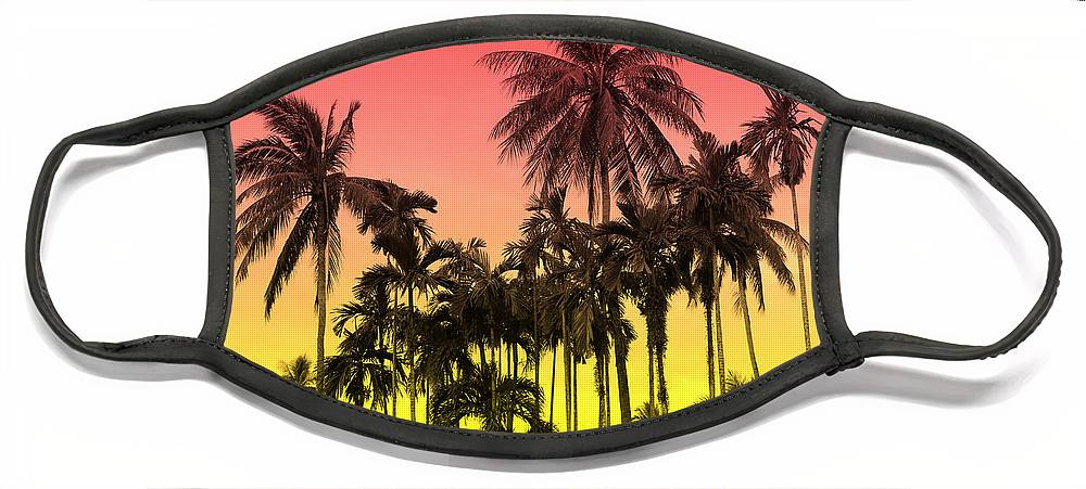 Face Mask featuring the photograph Tropical 9 by Mark Ashkenazi
