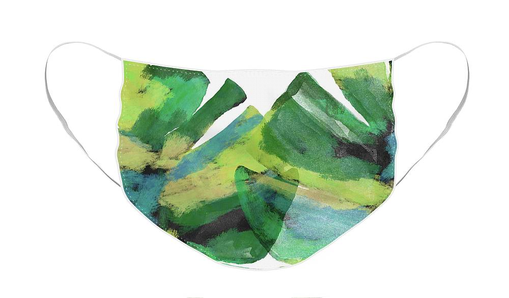 Tropical Face Mask featuring the mixed media Tropical Dreams 1- Art by Linda Woods by Linda Woods