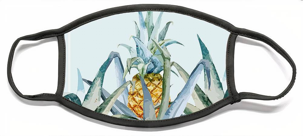 Summer Face Mask featuring the painting Tropical Feeling by Mark Ashkenazi