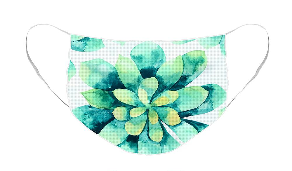 Summer Face Mask featuring the painting Tropical Flower by Mark Ashkenazi