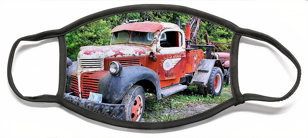 Old Truck Face Mask featuring the photograph Two for One by Kristin Elmquist