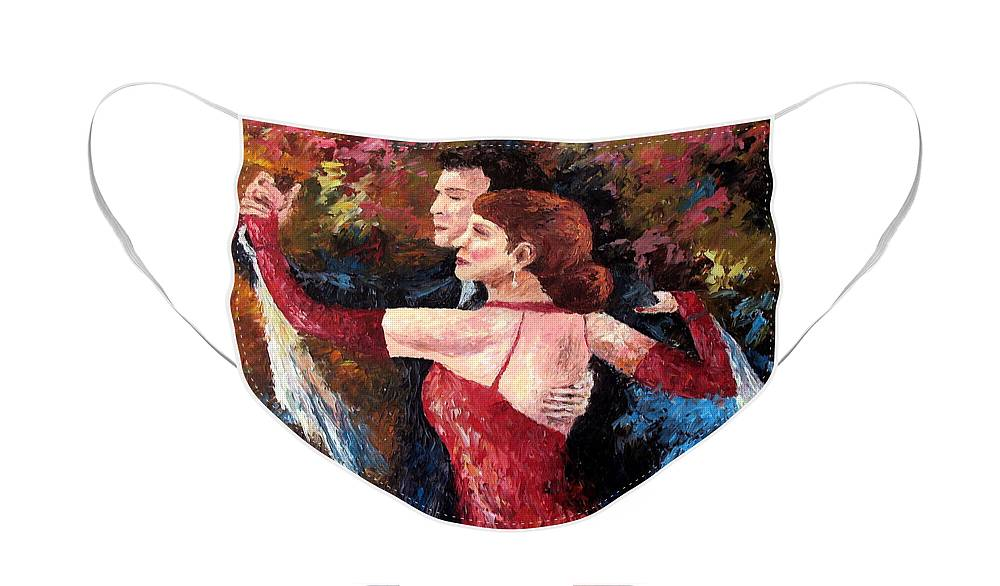 Tango Face Mask featuring the painting Two To Tango by David G Paul