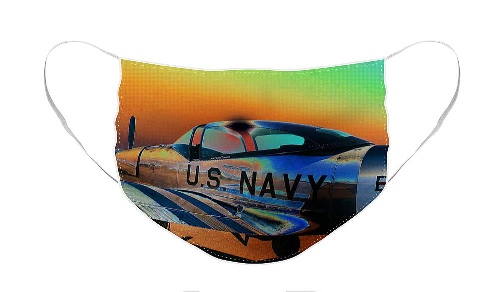 Diane Berry Face Mask featuring the photograph U S Navy by Diane E Berry