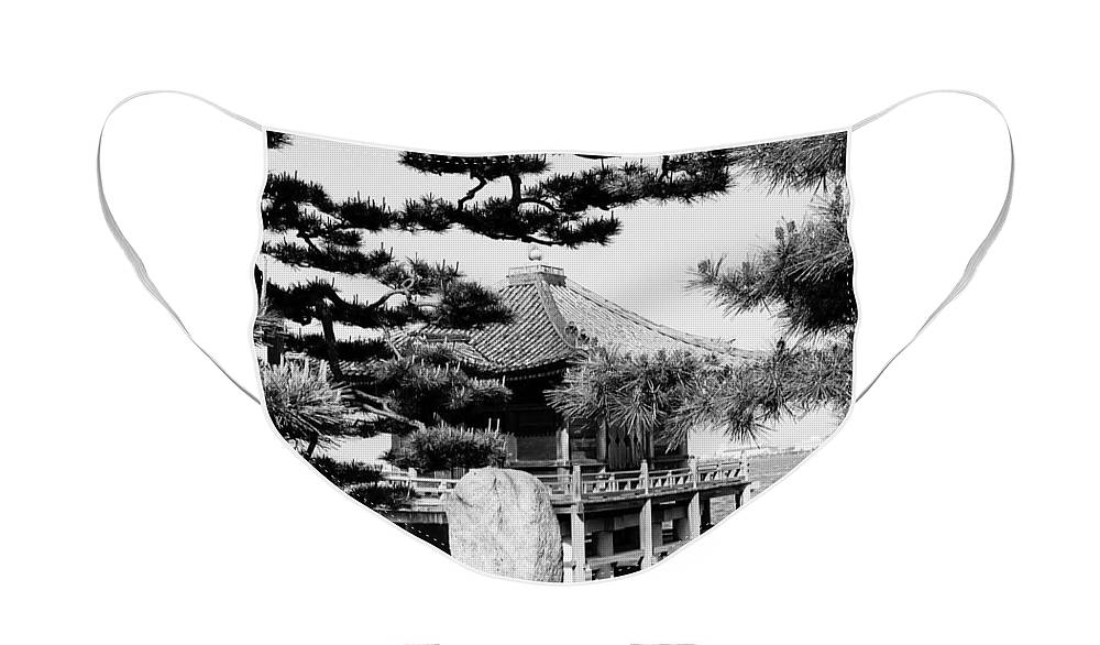 Asia Face Mask featuring the photograph Ukimi-Do Temple by Juergen Weiss