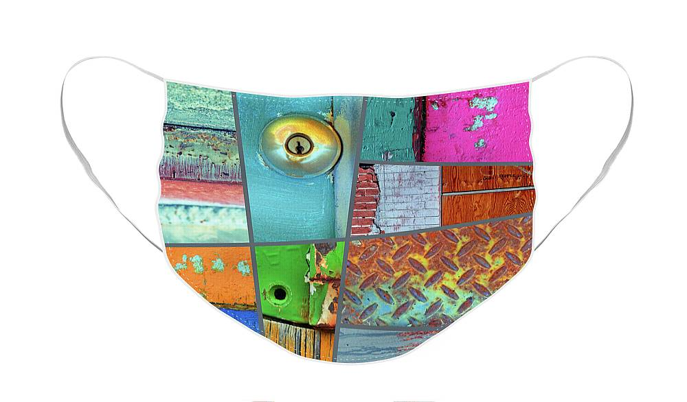 Collage Face Mask featuring the photograph Urban Colours 3 by Tara Turner