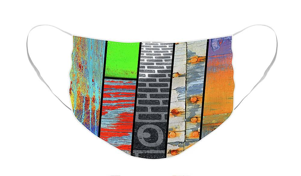Collage Face Mask featuring the photograph Urban Colours 5 by Tara Turner
