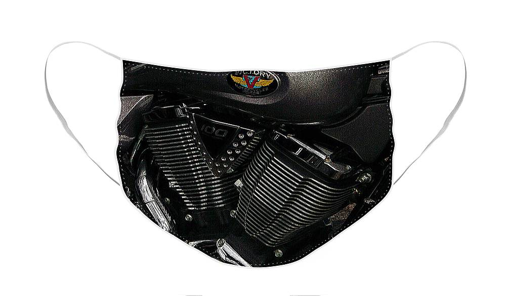 Diane Berry Face Mask featuring the photograph Victory Motorcycle by Diane E Berry