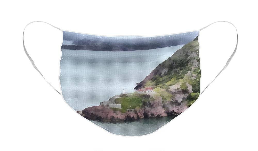 Canadian Face Mask featuring the painting View from Signal Hill by Jeffrey Kolker