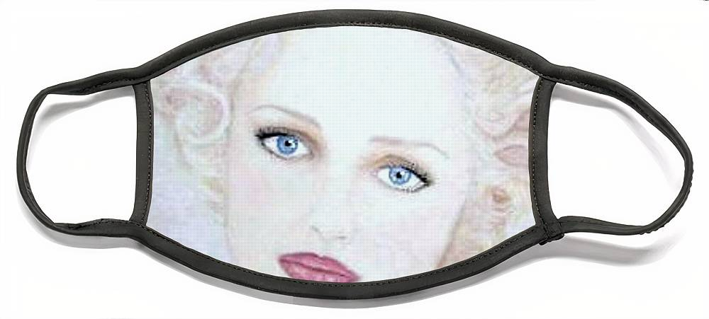 Face Face Mask featuring the drawing Virginia by Scarlett Royal
