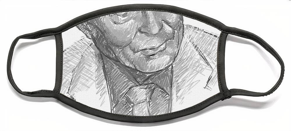 William Face Mask featuring the digital art W. S. Merwyn by Scott Waters