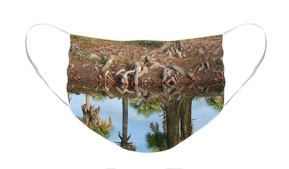 Roots Face Mask featuring the photograph Water Reflections by Rob Hans