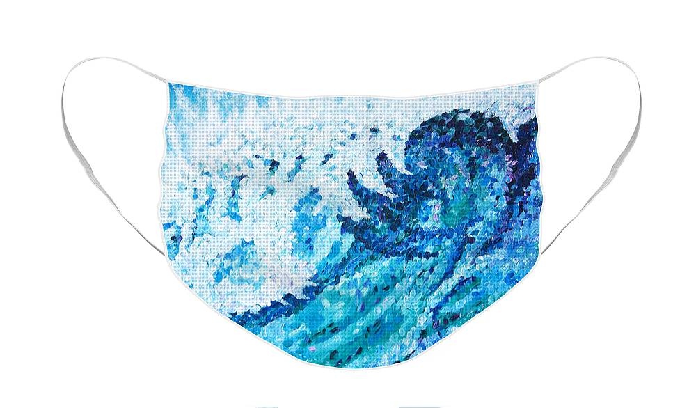 Ocean Face Mask featuring the painting Watercolor by JoAnn DePolo