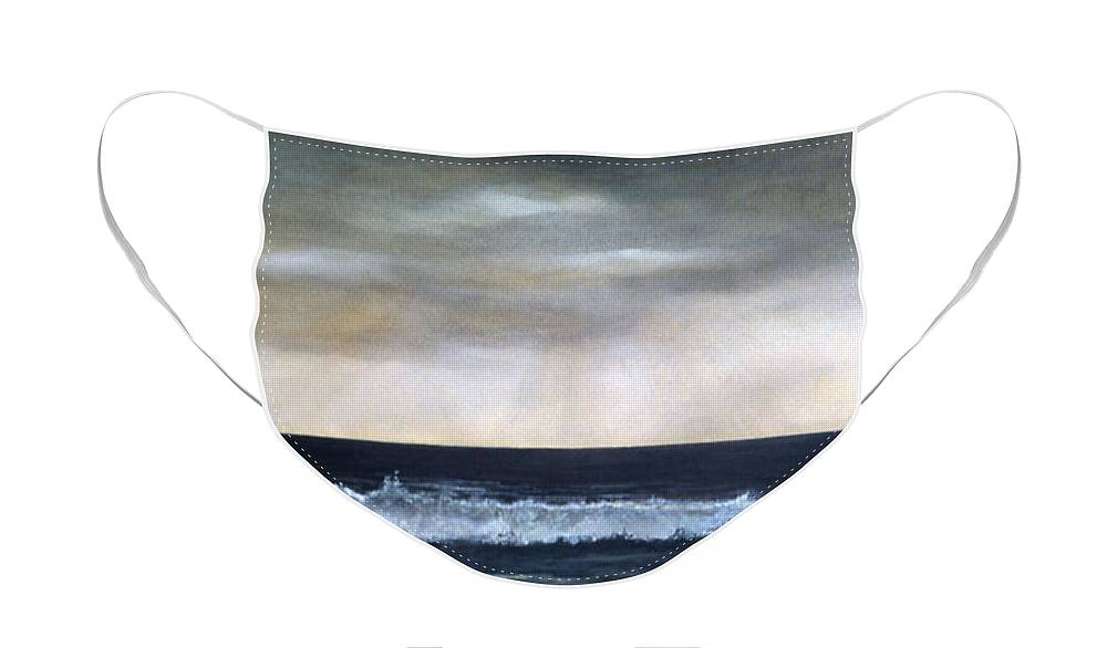 Stormy Sky Face Mask featuring the painting West Coast by Victoria Heryet