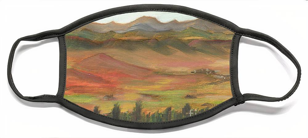 Colorado Face Mask featuring the painting Westcliffe Valley I by Lilibeth Andre