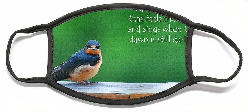 Diane Berry Face Mask featuring the painting When The Dawn Is Still Dark by Diane E Berry
