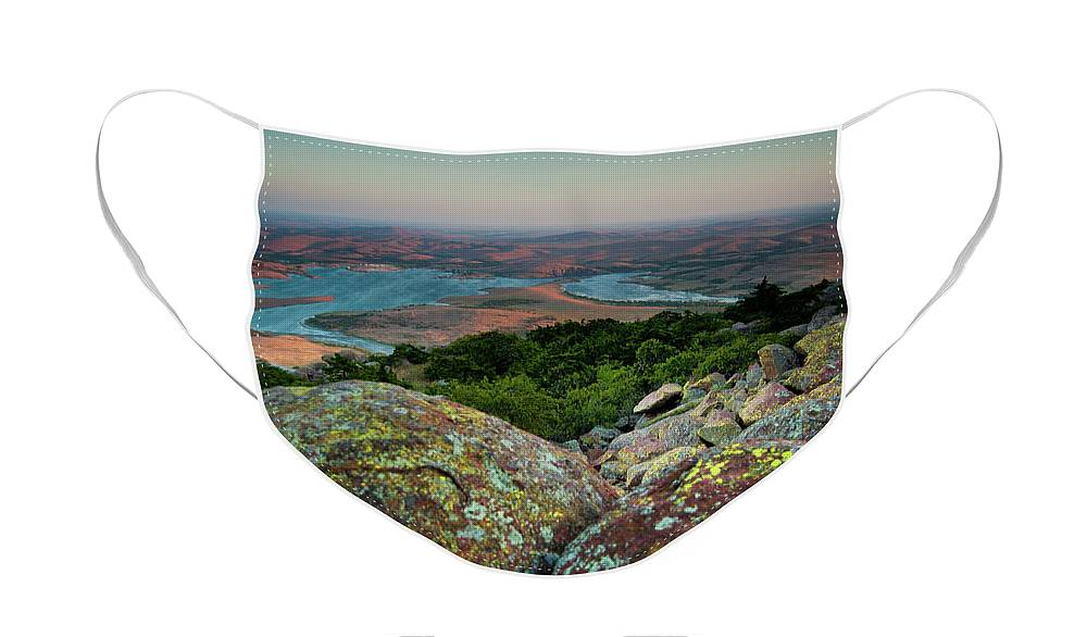 Wichita Mountains Face Mask featuring the photograph Wichita Mountains in Lawton by Iris Greenwell
