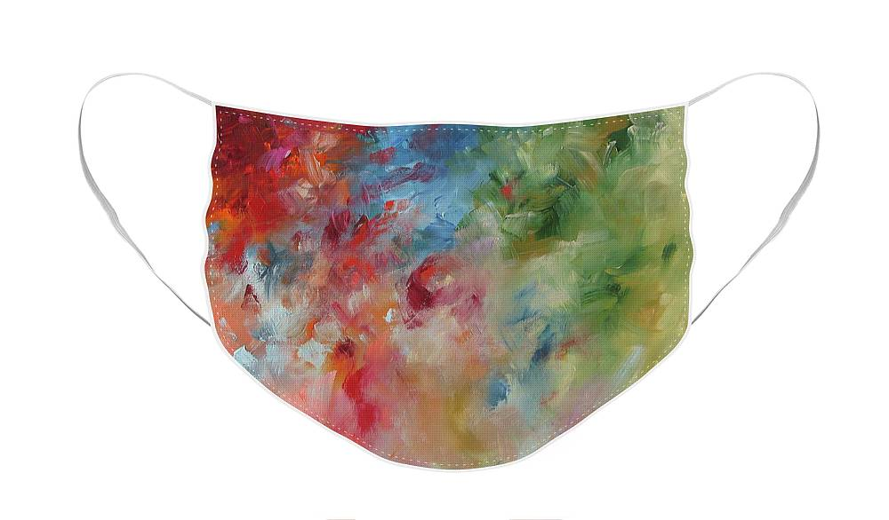 Painting Face Mask featuring the painting Wicked Wind by Linda Monfort