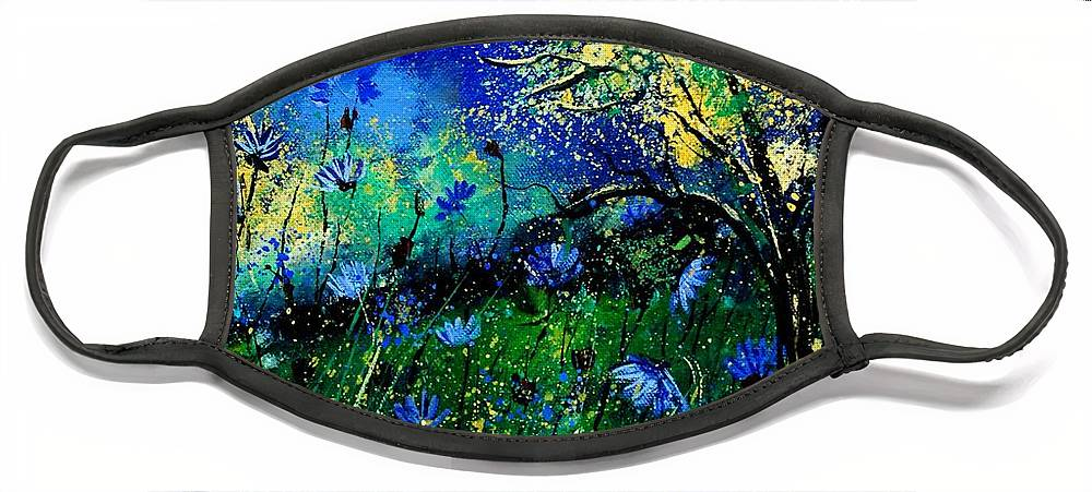 Poppies Face Mask featuring the painting Wild Chocoree by Pol Ledent