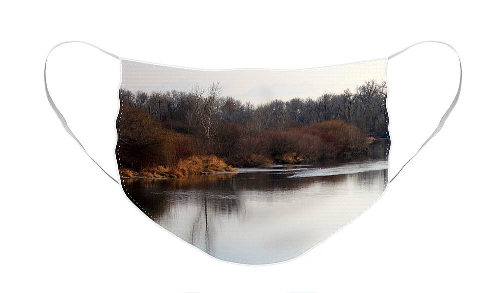 Yakima Face Mask featuring the photograph Winter Riverbank by Carol Groenen
