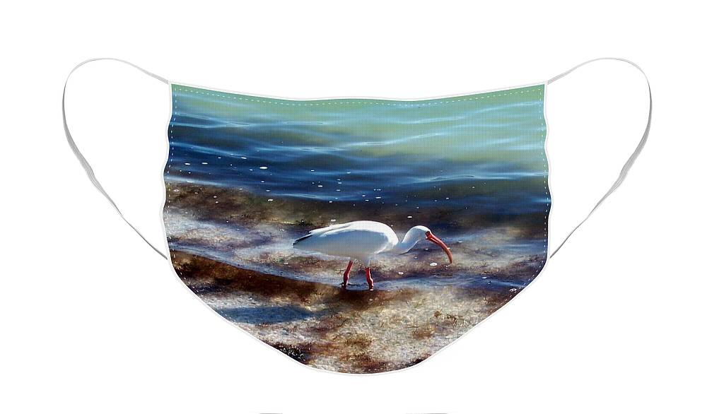 Bird Face Mask featuring the photograph Yay Seaweed by Elizabeth Klecker