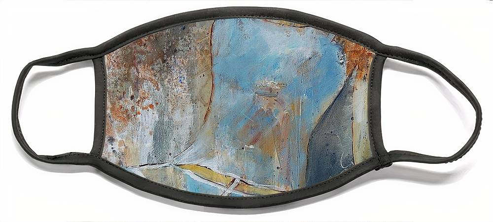 Nude Face Mask featuring the painting Young Girl 451108 by Pol Ledent