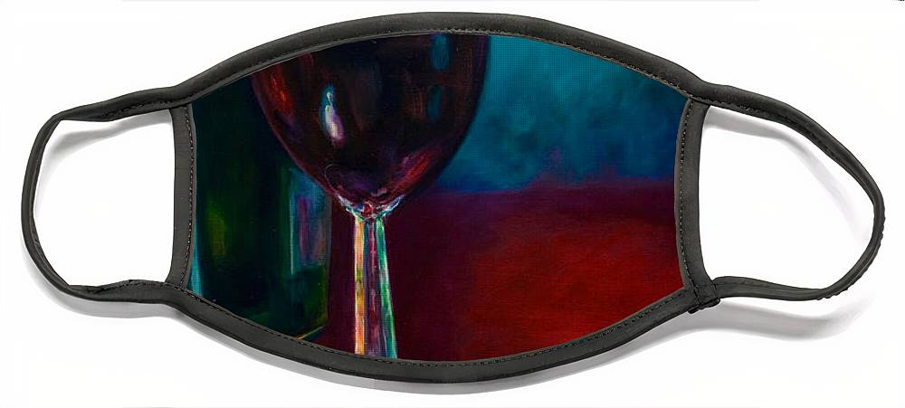 Wine Bottle Face Mask featuring the painting Zinfandel by Shannon Grissom