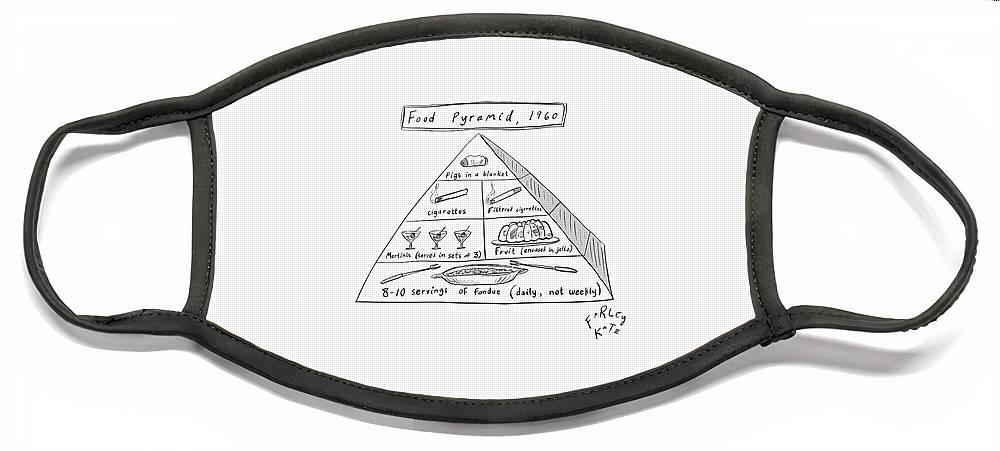 1960s Food Pyramid Face Mask