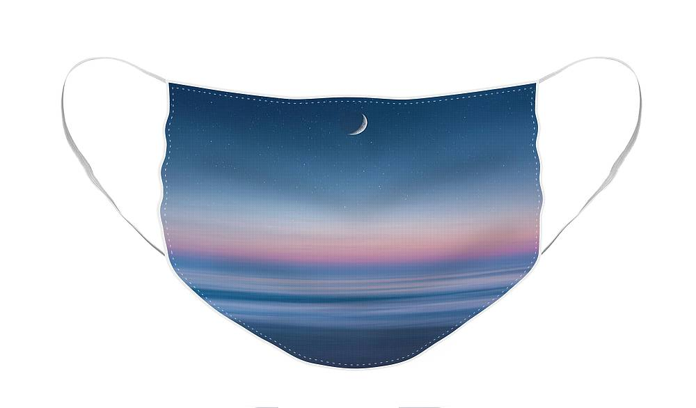 Atlantic Ocean Face Mask featuring the photograph Atlantic Beach Predawn Elements by Steven Sparks