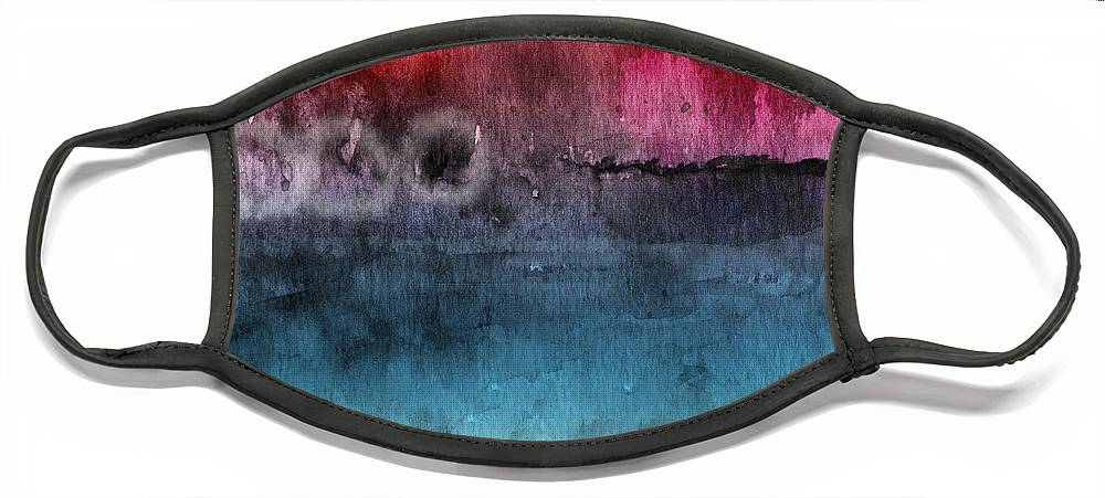 Abstract Face Mask featuring the painting Awakened 4- Abstract Art by Linda Woods by Linda Woods