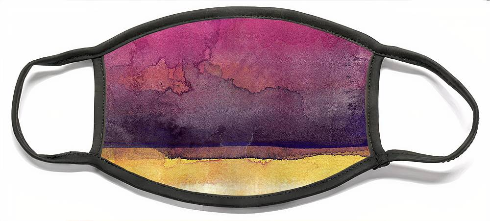Abstract Face Mask featuring the painting Awakened 6- Art by Linda Woods by Linda Woods