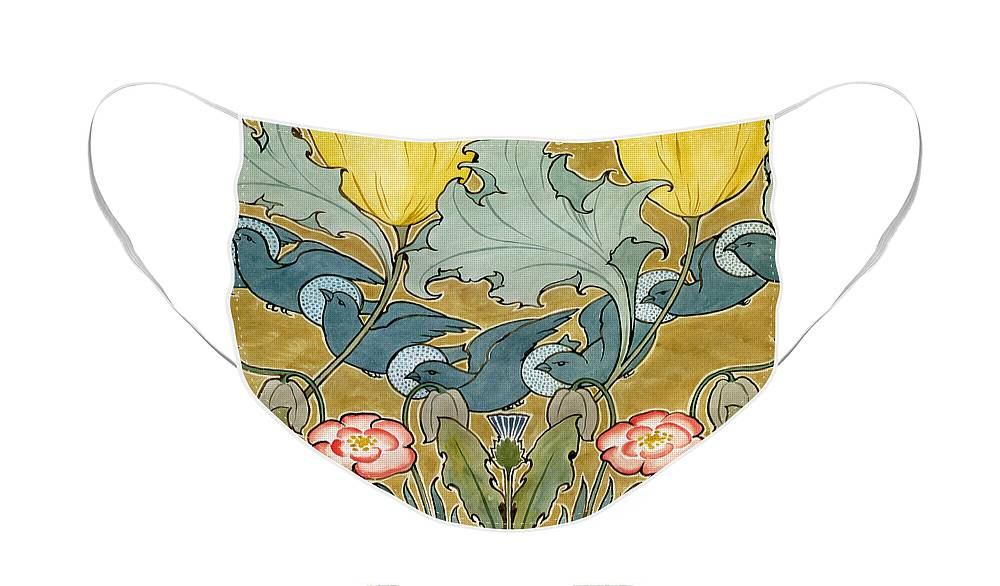 Birds In Flight Design Face Mask For Sale By Charles Francis Annesley Voysey