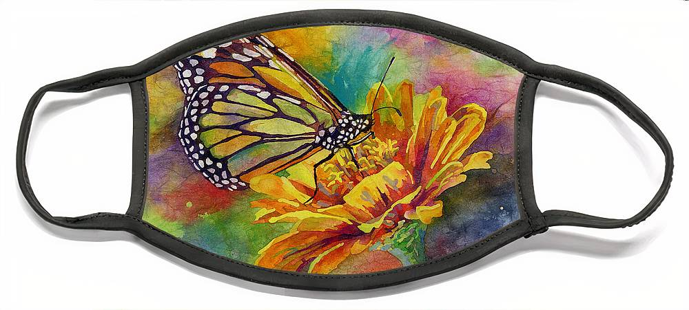 Butterfly Face Mask featuring the painting Butterfly Kiss by Hailey E Herrera