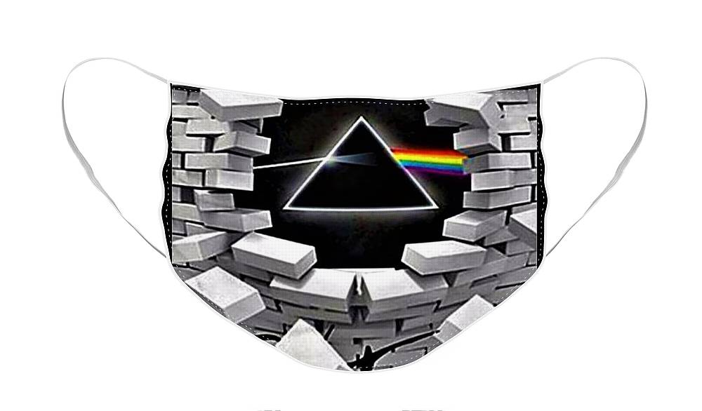 Pink Floyd Face Mask featuring the photograph Dark Side Of The Wall by Rob Hans