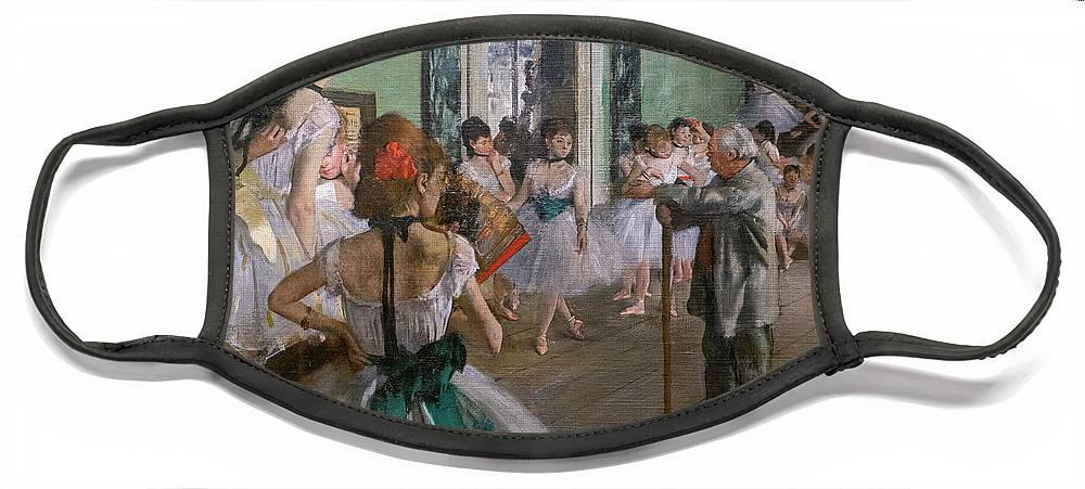 Dance Face Mask featuring the painting Degas, The Dance Class Detail by Edgar Degas