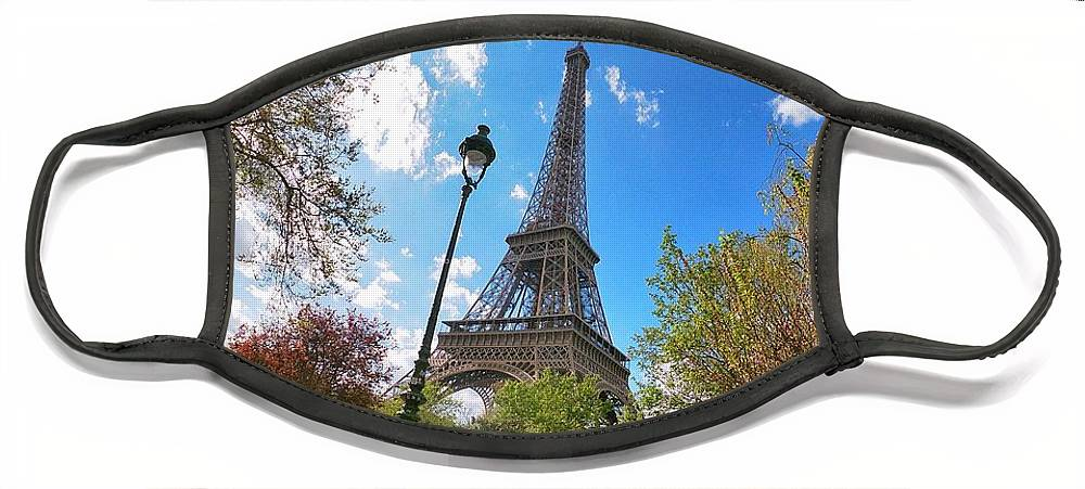 Europe Face Mask featuring the digital art Eiffel by Scott Waters