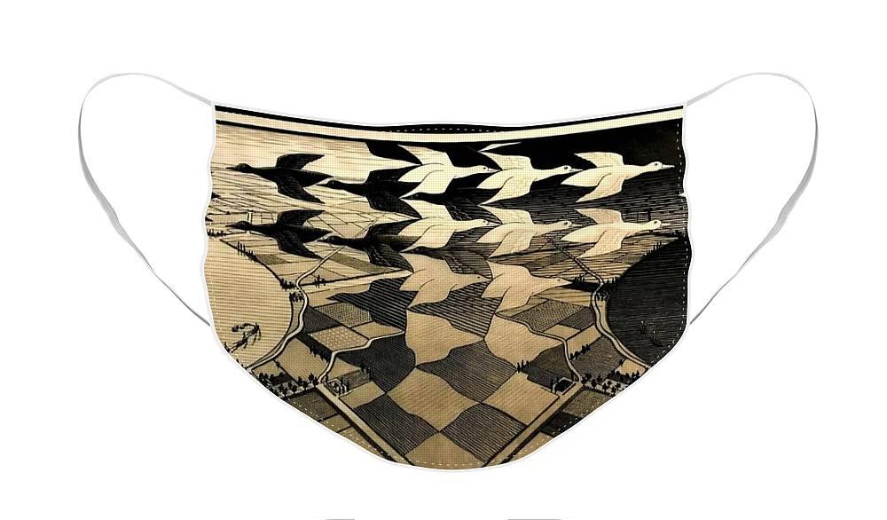 Maurits Cornelis Escher Face Mask featuring the photograph Escher 116 by Rob Hans