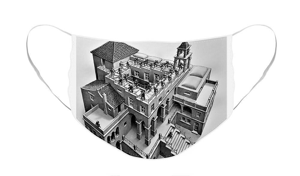 Maurits Cornelis Escher Face Mask featuring the photograph Escher 129 by Rob Hans