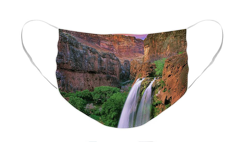 America Face Mask featuring the photograph Havasu Falls by Inge Johnsson
