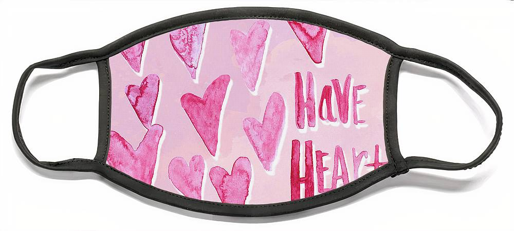 Have Face Mask featuring the mixed media Have Heart by Sd Graphics Studio
