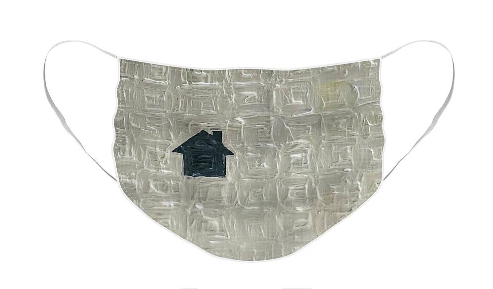 House Face Mask featuring the painting House by Lorrie Boydston