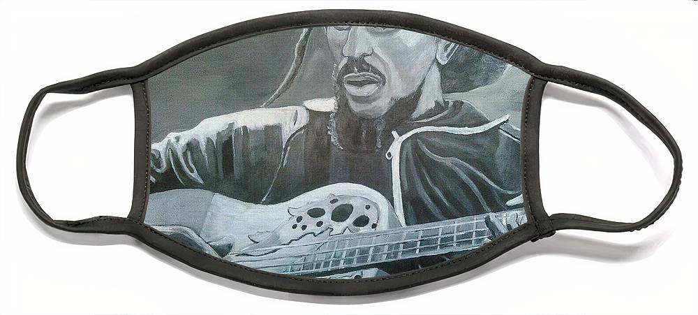 Bob Marley Painting Face Mask featuring the painting Musical Man by Andrew Johnson
