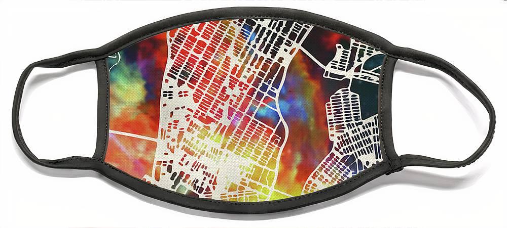 City Map Face Masks