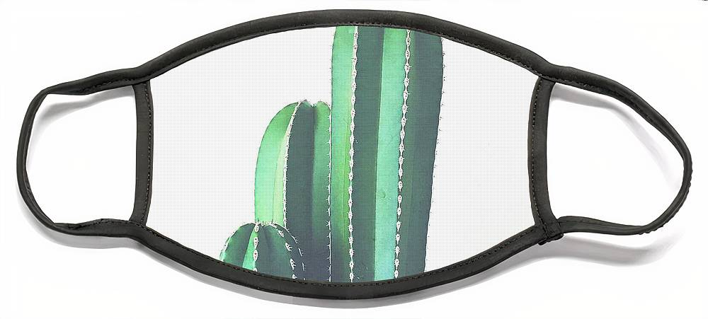 Cactus Face Mask featuring the photograph Organ Pipe Cactus by Cassia Beck