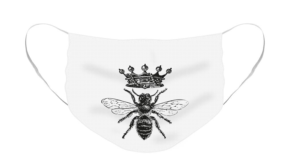 Queen Bee Face Mask featuring the digital art Queen Bee by Eclectic at HeART