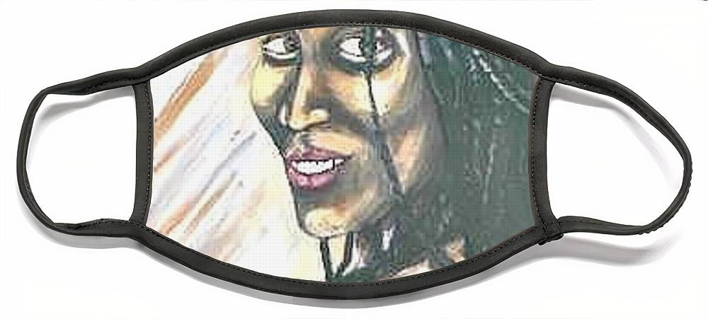 Face Mask featuring the painting Sister by Andrew Johnson