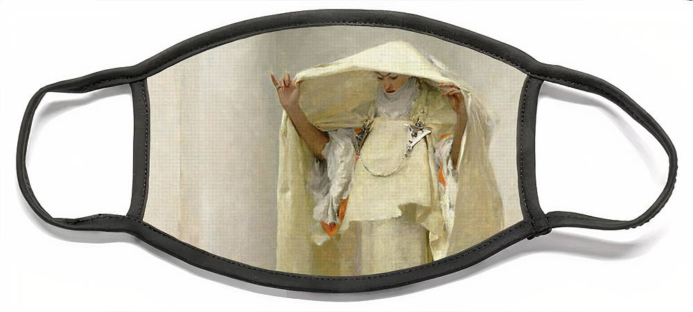John Singer Sargent Face Mask featuring the painting Smoke of Ambergris by John Singer Sargent