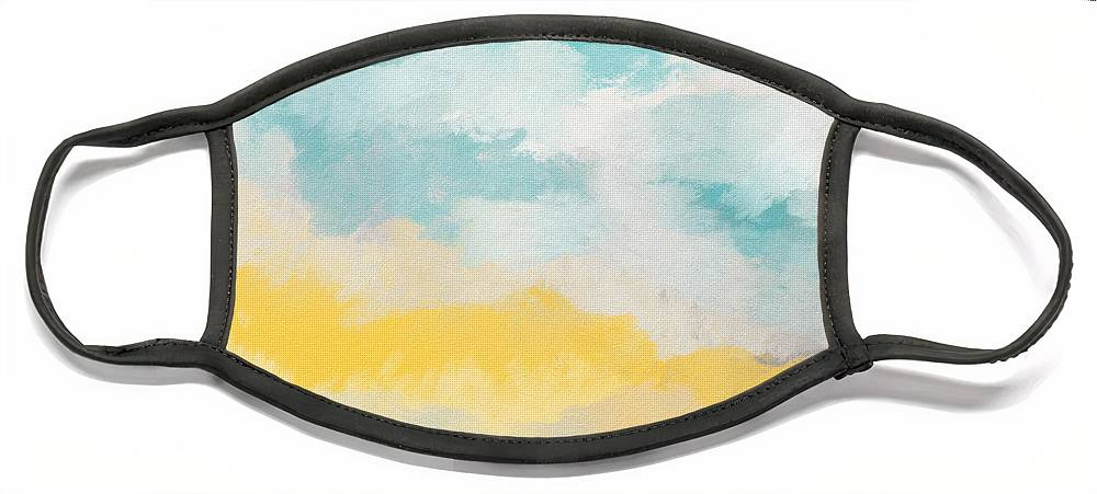 Landscape Face Mask featuring the mixed media Sunshine Day- Art by Linda Woods by Linda Woods