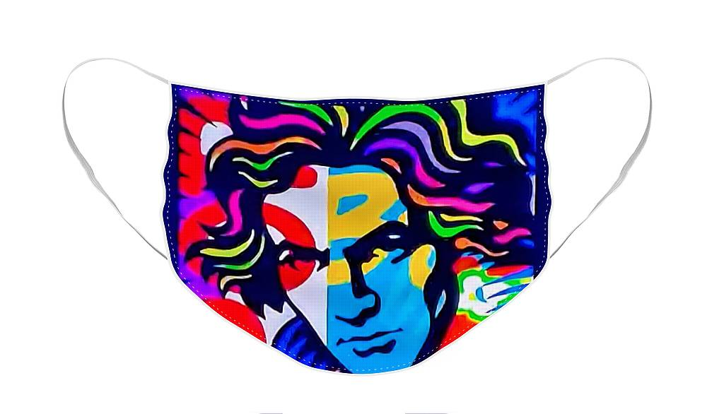 Ludwig Van Beethoven Face Mask featuring the photograph Beethoven by Rob Hans