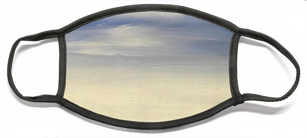 Blue Sky Landscape Face Mask featuring the painting Blue Sky by Sheila Mashaw